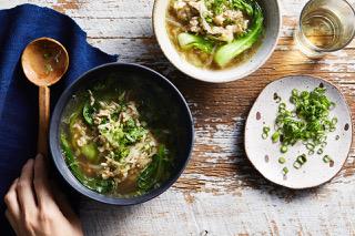 Pork, prawn and Asian greens 02 1